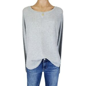 Womens XXL Top Shirt Plus Size Gray Thermal Knit Tee Long Sleeve Cotton Blend