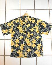 men NEW multi-color JAMAICA JAXX Hawaiian Floral Silk Shirt L
