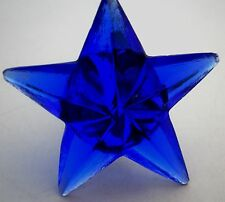 THE MOST AMAZING BEAUTIFUL COBALT BLUE GLASS STAR KNOBS HANDLES OR PULLS