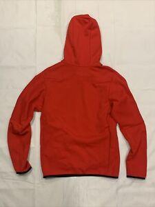 Nike Tech CU4493-657 Men's Red Fleece Long Sleeve Pullover Hoodie Msrp: 140$