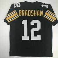 New TERRY BRADSHAW Pittsburgh Black Custom Stitched Football Jersey Size Mens XL