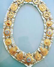 Vintage Masonic Regalia Grand Lodge Of England Chain Collar Charles Usher 1950s