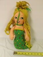 Vintage 1974 Chicken of the Sea Mermaid Mattel Advertising Cloth Stuffed Plush
