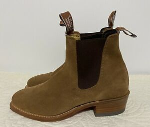 R.M. WILLIAMS LADY YEARLING SUEDE BOOTS - D FIT  Size 7 NEW