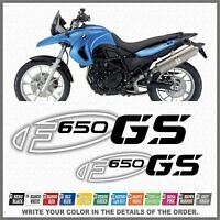 2x F650 GS Black/White BMW Motorrad ADESIVI PEGATINA AUTOCOLLANT AUFKLEBER