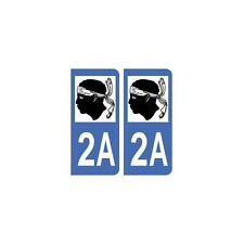 2A Corse autocollant plaque arrondis