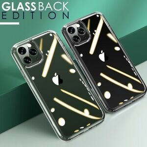 TEMPERED GLASS BACK Clear Case for iPhone SE 2 11 Pro Max Lens Screen Protector