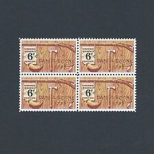 Daniel Boone - Vintage Mint Set of 4 Stamps 50 Years Old!