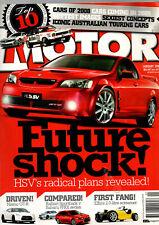 MOTOR  MAGAZINE 2009 cars Australia Nissan Nismo GT-R Elfin type 5 Subaru WRX