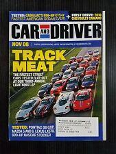 Car & Driver Nov 2008 - Pontiac G6 - Lexus LX570 - 2010 Chevrolet Camaro - BMW 7