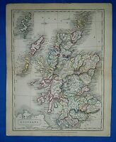 Antique 1829 Dr Butler's Atlas Map ~ SCOTLAND ~ Old Authentic ~ Sidney Hall