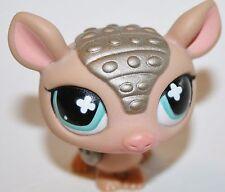 Littlest Pet Shop #638 Golden Brown Armadillo Blue Clover Eyes