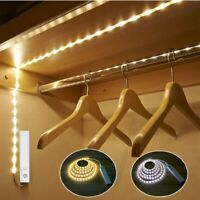 Wireless Battery Powered LED Strip Light PIR Motion Sensor Wardrobe Cabinet Lamp