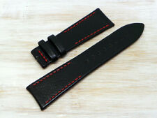 New Leather Strap Moose Artisan Made Italy Black & Red 22/18 ELK.01