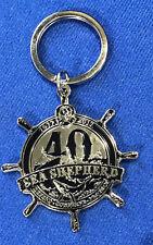 40th Metal Enamel Keyring Sea Shepherd