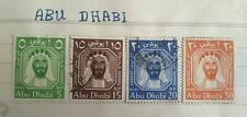 ABU DHABI TRUCIAL STATE SET OF 4 STAMPS 5, 15, 20 & 30 NP UAE L@@K!