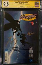 Batman Day #1 CGC 9.6 SS Frank Miller David Finch SIGNED Comic Book Harley Quinn