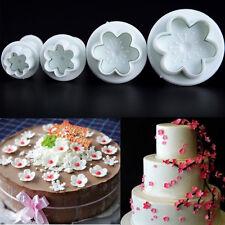 4 Ausstecher SET Fondant Torten Modellierwerkzeug Glätter Kuchen Ausstecher form
