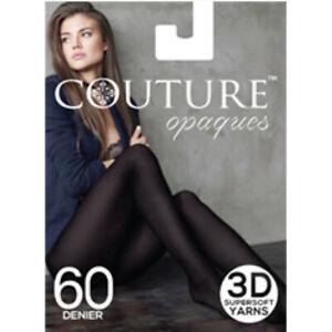 Couture 60 Denier Super Soft Opaque Tights Medium, Large