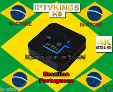 2017 Newest H5 Brazilian Portuguese 4K ULTRA HD IPTV Internet Live Brazil TV Box