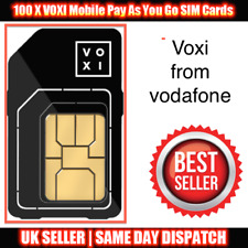 100 x VOXI Pay As You Go 4G Sim Cards UK New Bulk Wholesale Joblot From Vodafone