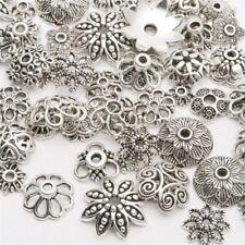 50G Wholesale Tibetan Silver Spacer Beads Metal Findings Craft Making End Caps