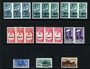 SOUTH WEST AFRICA KG VI 1943-4 Reduced Size Part Set SG 123 to SG 129 MINT