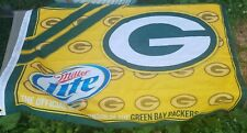 New listing 2011 Green Bay Packers Miller Lite 26 x 40 Beer Sign Banner Flag free shipping
