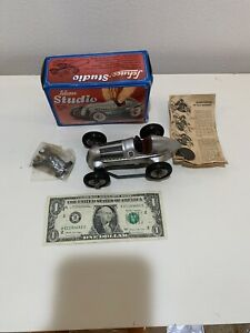 Schuco 1936 Silver Mercedes Wind Up Grand Prix Race Car Studio 1050 With Tools