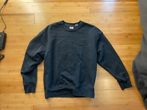 Levis Crewneck Pullover Sweater Mens Vintage Wash Relaxed Fit Black Size S