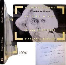 Jacques Lepage Emploi du temps 1994 50 ans critique art Arman à Zadkine Nice