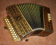 Akkordeon Hohner Wiener 21/8/ II Ton G/C Harmonika ca.1930er Jahre Anker Gold