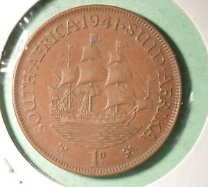 1941 South Africa Penny -  INV#GB197