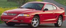 BILLET GRILLE GRILL 94-98 FORD MUSTANG COMBO W CUTOUT