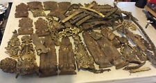 Vintage Lot Of Solid Brass Trim Different Size And Desing