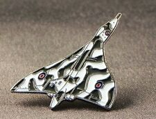Metal Enamel Pin Badge Brooch RAF Vulcan Bomber XM558 Aeroplane Avro