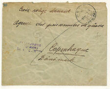 W61 1916 HUNGARY *Pest* Military POW Cover RED CROSS Denmark {samwells-covers}
