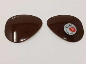 Ray-Ban Aviator RB3025 Brown Polar 58mm Authentic Replacement Lenses A&S