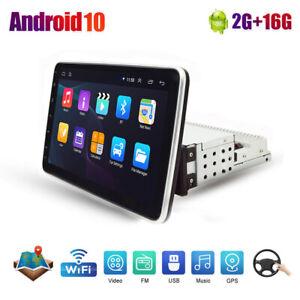 "10.1"" Quad Core Android 10.0 Car Stereo Radio GPS Navi MP5 Player Single 1Din"