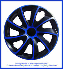 15'' Wheel trims fit Toyota Yaris, Corolla, Auris, IQ, Avens - BLACK / BLUE 15''