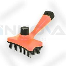 PER CANE GATTO PELO PELLICCIA riassorbimento trimmer Grooming RASTRELLO PETTINE PENNELLO Strumento ARANCIONE