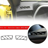Carbon Fiber Dashboard Side Air Vent Outlet Cover For Chevrolet Camaro 2012-2015