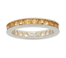 QVC 1.45 cttw Citrine Eternity Sterling Silver Ring Size 5 $63 Sold Out!