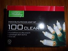 Living Solutions Holiday 100 Clear In/Outdoor Christmas / Party Light Set