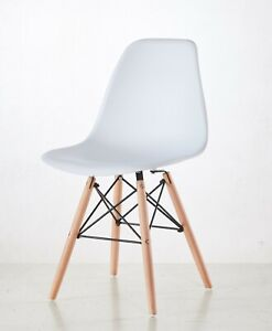 Set of 4 Dining  Chairs Retro Wooden Legs Office Kitchen Lounge Chair