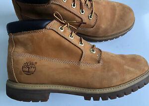 Timberland Premium Chukka Waterproof Boot Wheat Nubuck Men's 10M, Gently Used