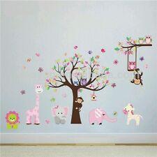 Kids Nursery Animal Monkey Giraffe Tree Owl Vinyl Wall sticker Decal Boy Girl