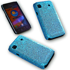 Back Cover Handy Case Hülle Kappe in Glitter Blau für Samsung i9000 Galaxy S