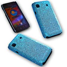 Back Cover Handy Case Hülle Kappe in Glitter Blau für Samsung i9000 Galaxy S