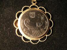Nuevo Collar Colgante de moneda con Cadena Gratis-antiguo galeón moneda israelí
